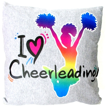 Image I Love Cheerleader Autograph Pillow