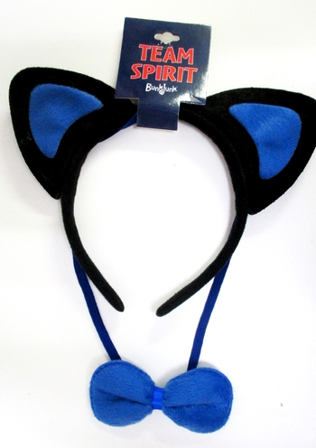 Image Color War Cat Ears Headband and Bow Tie Set