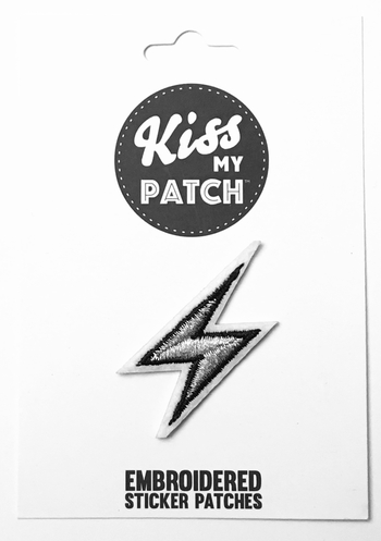 Image Lightening Bolt Sticker Patch