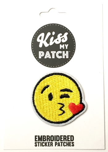 Image Emoji Kissy Face Sticker Patch