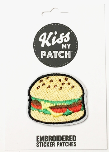 Image Burger Sticker Patch