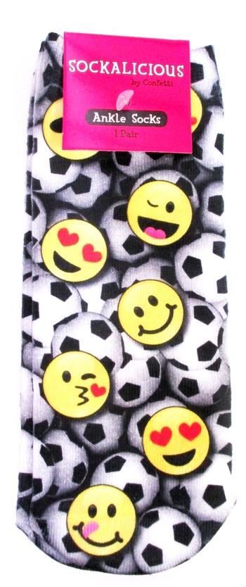 Image Soccer Emoji Ankle Socks