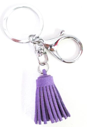 Image Fringe Backpack Keychain