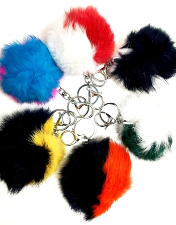 Image Fur Two Tone Keychains
