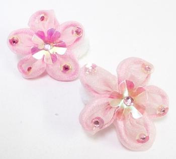 Image Pastel Chiffon  Flower Seuin Pony Pairs