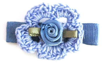 Image Crochet with Satin Rose Clippie