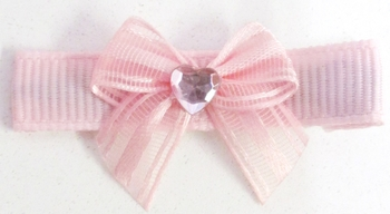 Image Satin/Sheer Bow Clippie