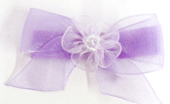 Image Chiffon Bow with Tails Clippie