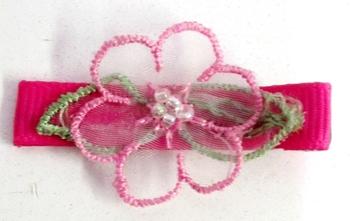 Image Sheer Flower Clippie