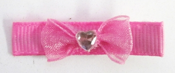 Image Chiffon Bow with Heart Clippie