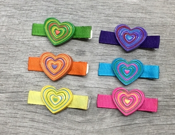Image Ceramic Heart Clippie