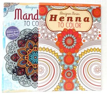 Image Coloring Books Mandela & Henna