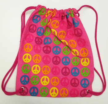 Image Peace Canvas Sling Bag