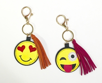 Image EKC Emoji Key Chain with Fringe