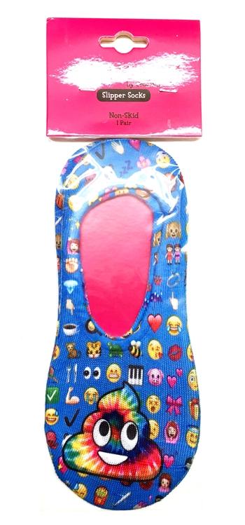Image Slipper Non Skid Rainbow Poop Socks