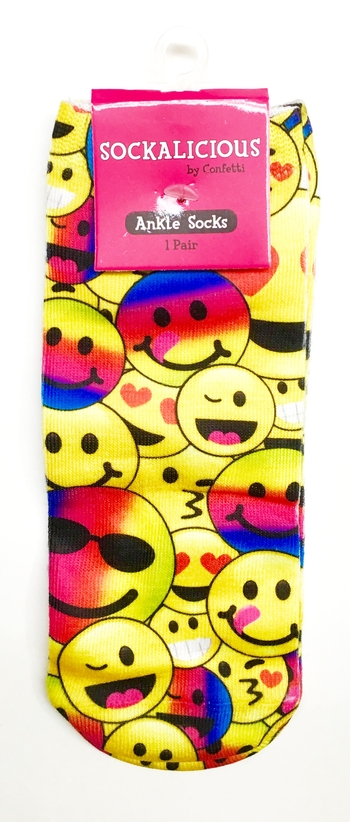 Image Yellow Smile Rainbow Socks