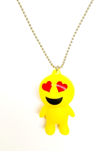 Image EM25 Emoji on Ball Chain Necklace