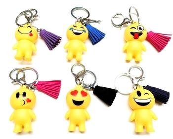 Image Emoji Man Fringe Keychain