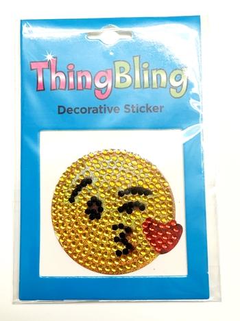 Image Rhinestone Kissy Face Thing Bling Sticker