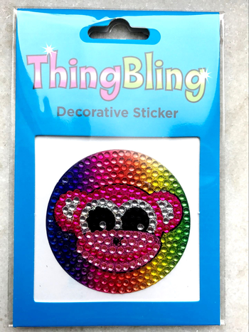 Image Rhinestone Monkey Thing Bling Sticker