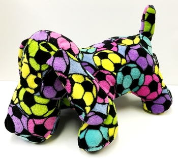 Image Rainbow Soccer Fuzzies Dog