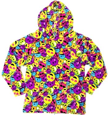 Image Rainbow Emoji Fuzzies Hoodie