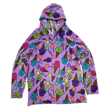 Image Lollis and Cones Fuzzies Hoodie