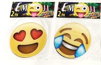 Image Large Emoji Magnet 2pc Set