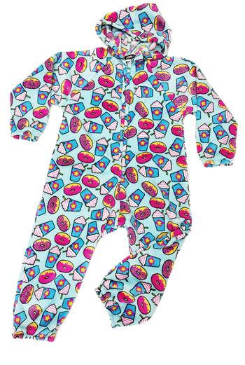 Image Donut & Frap  Fuzzies Onesie Jumpsuit