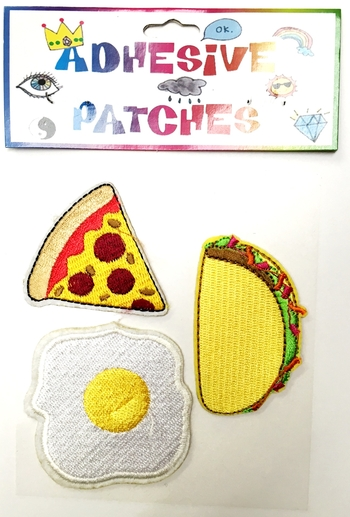 Image Pizza Taco &Egg Sticker Patch Set