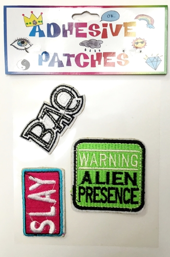 Image Bae/Slay/Alien Sticker Patch Set
