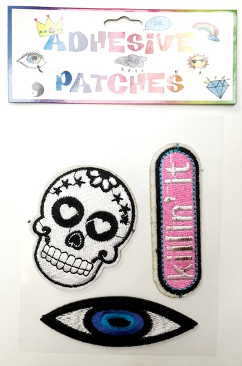 Image Skull/Eye Killin it Sticker Patch Set
