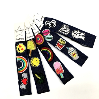 Image Denim Patch Headwrap