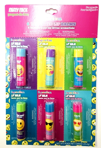 Image Emoji Lip Balm Party Pack
