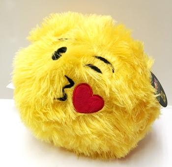 Image Furry Emoji Ball Pillow