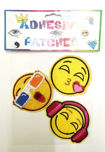 Image Three Emojis/sungalsses Sticker Patch