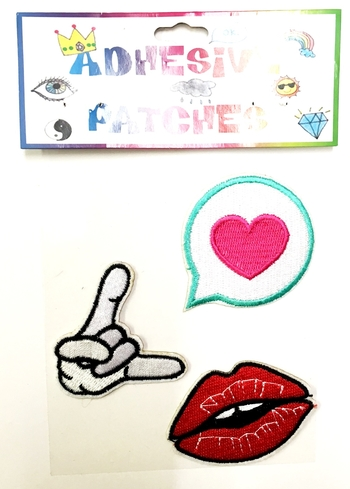 Image Heart/ Lips Sticker Patch Set