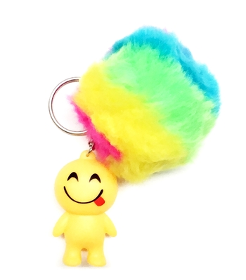 Image Emoji Man Rainbow Ball Keychain