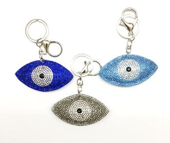Image Rhinestone Evil Eye Keychain