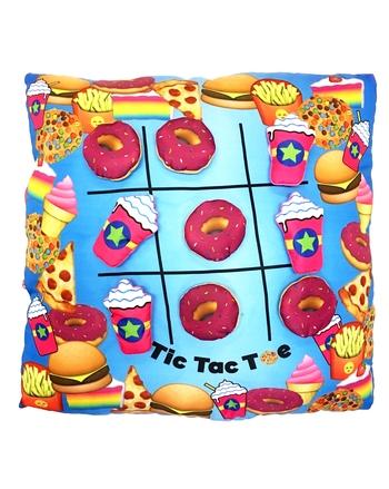 Image Donuts & Frap Tic Tac Toe Pillow