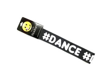 Image # Dance (Black & White) No Slip HeadWrap