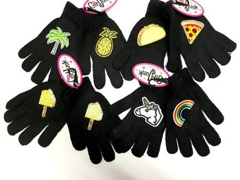 Image Black Patched Gloves