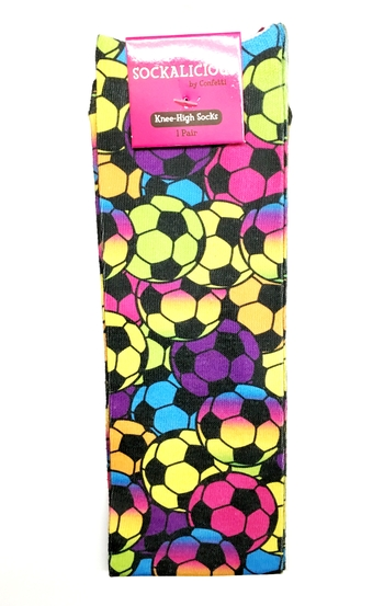 Image Rainbow Soccer Knee Socks