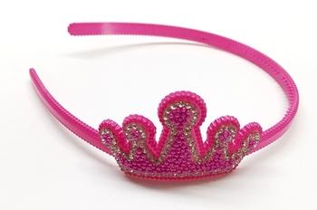 Image Beaded Crown Headband