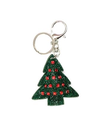 Image Rhinestone Xmas Tree Keychain