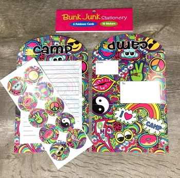 Image Paisley Camp Fold Over Stationery