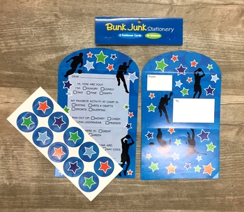 Image Silhouette Sport Fold Over Stationery Set