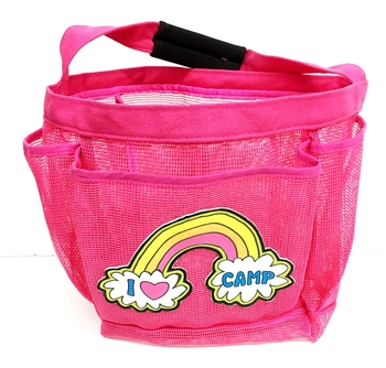 Image Rainbow I Love Camp Shower Caddy