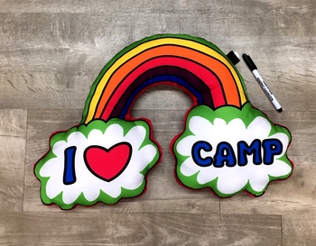 Image I Love Camp Rainbow Autograph  Pillow