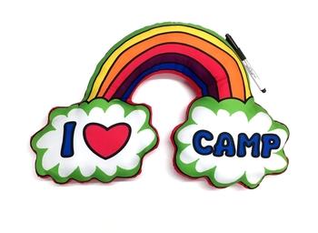 Image I Love Camp Rainbow Autograph  Pillow